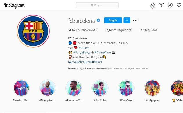 Perfil de Instagram del
