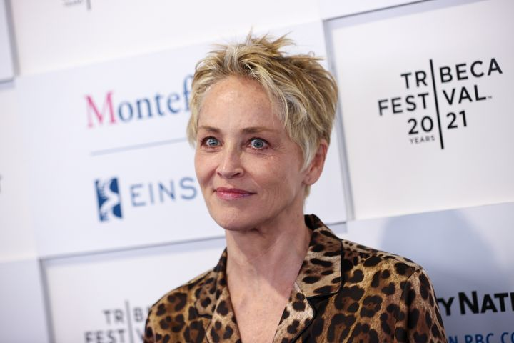 """Sharon Stone attends the """"In The Heights"""" opening night premiere during the 2021 Tribeca Festival in June."""
