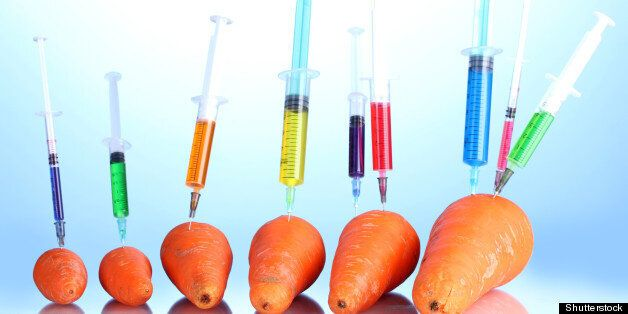 injection into fresh carrot on...