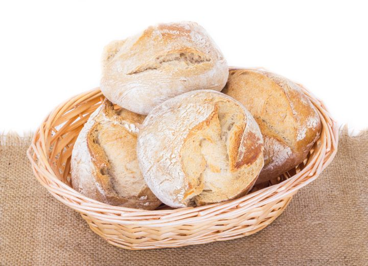 basket with bakery products