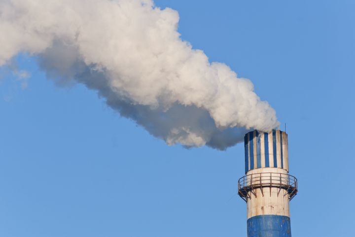 industrial smoke from chimney...