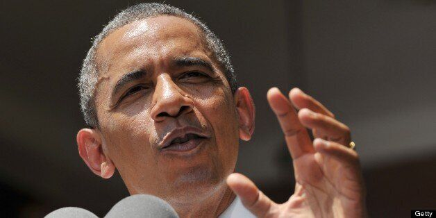US President Barack Obama speaks on climate change on June 25, 2013 at Georgetown University in Washington, DC. Obama said Tu