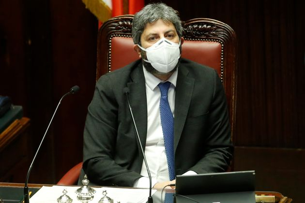 The President the Chamber of Deputies Roberto Fico during the discussion and vote of confidence in the...