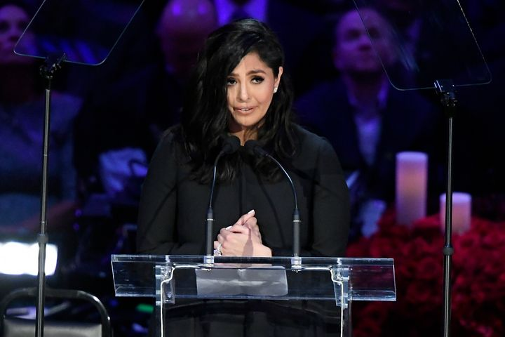 Vanessa Bryant spoke during The Celebration of Life for Kobe & Gianna Bryant at the Staples Center on February 24, 2020.