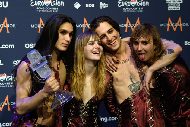 Los italianos Måneskin, tras ganar Eurovisión