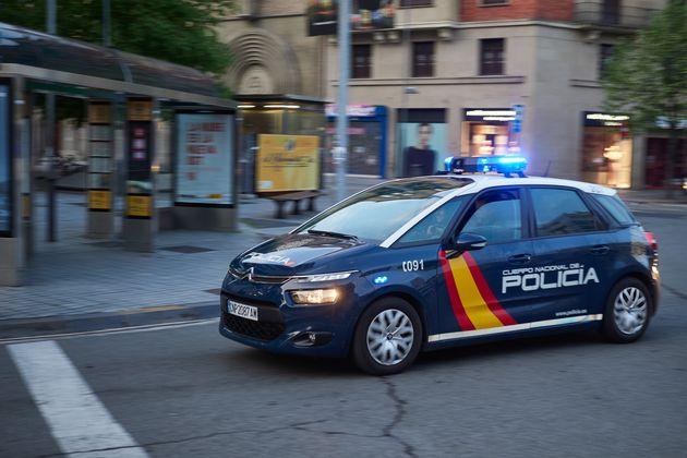 Un coche de la Policía Nacional, en una foto de