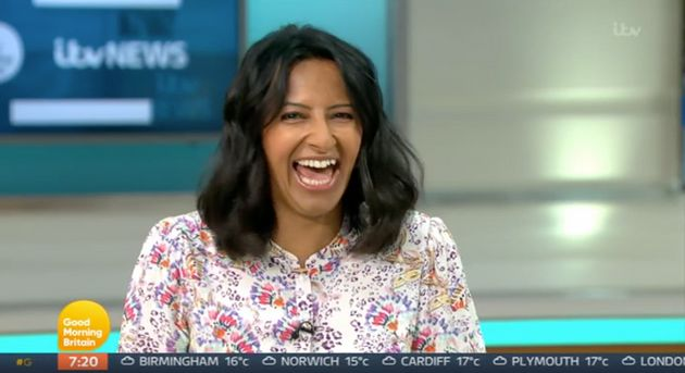 Good Morning Britains Ranvir Singh Gets A Surprise As Her Son FaceTimes Her Live On Air