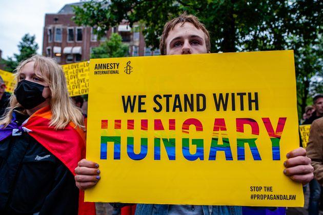 Ce que dit vraiment la loi homophobe hongroise qui agite l'Euro et l'UE (Photo d'illustration: manifestation...