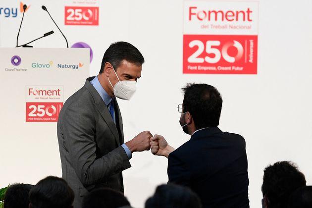 Pedro Sánchez y Pere Aragonès el 7 de