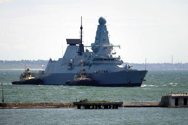 El HMS Defender de la marina real británica, en una foto de archivo tomada en Odesa