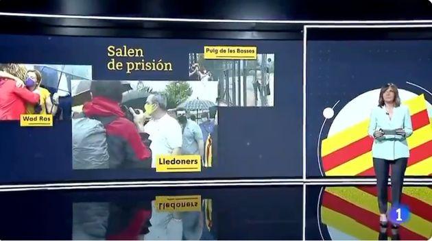 Ana Blanco en el Telediario de TVE de este