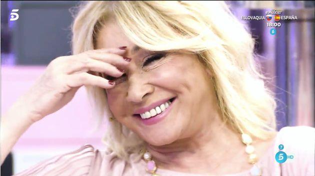 Mila Ximénez, en una de las imágenes del vídeo con el que ha comenzado 'Sálvame' en su
