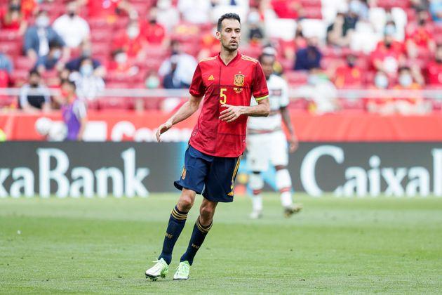 Busquets, en el amistoso que España jugó contra