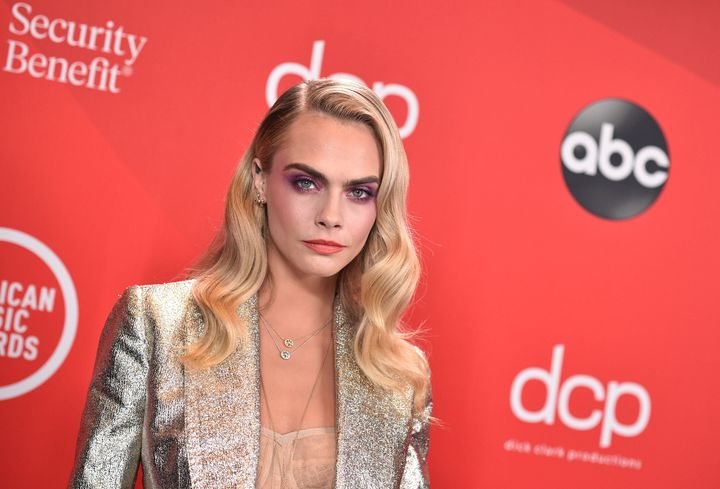 Delevingne attends the 2020 American Music Awards on Nov. 22, 2020 in Los Angeles.