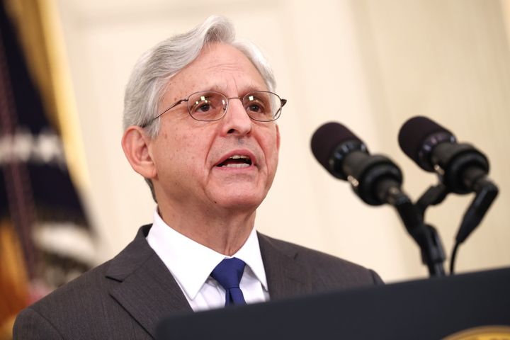 U.S. Attorney General Merrick Garland delivers remarks on gun crime prevention measures at the White House on June 23, 2021.