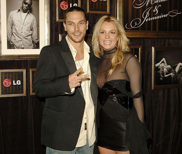 2006년 2월 8일 브리트니 스피어스의 전 남편인 케빈 페더라인과 그래미 어워드 에프터