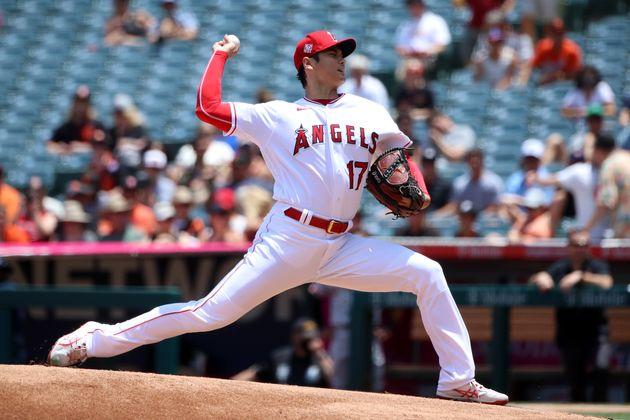 サンフランシスコ・ジャイアンツ戦で先発登板した大谷翔平選手