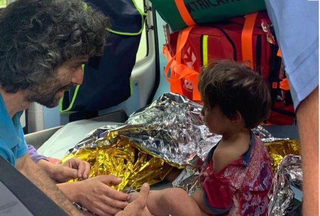 Leonardo Tanturli con il piccolo Nicola, appena