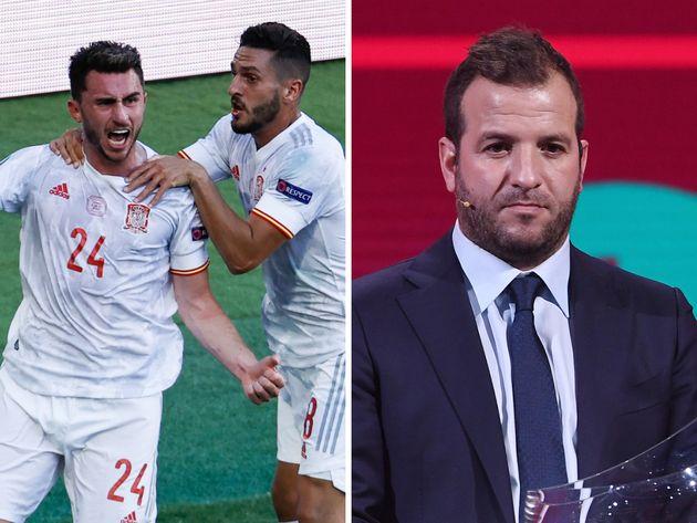 España calla a Van der Vaart tras ganar 5-0 a