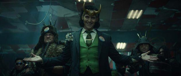 Loki, joué par TomHiddleston, dans la série Marvel diffusée sur