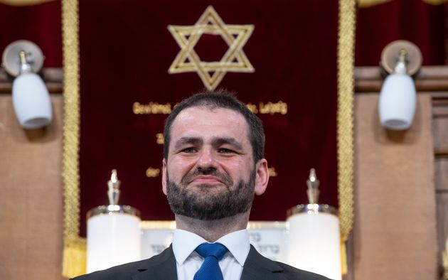 El rabino Zsolt Balla, el pasado 21 de junio, en su toma de posesión del cargo, en
