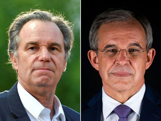 Portrait des deux candidats à la présidence de la région Paca, Renaud Muselier (LR)...