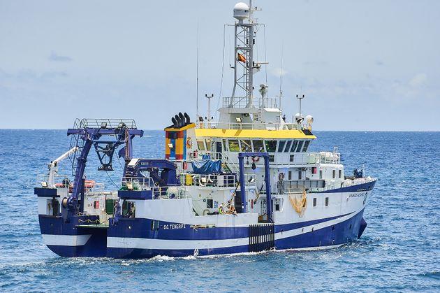 El buque oceanográfico Ángeles