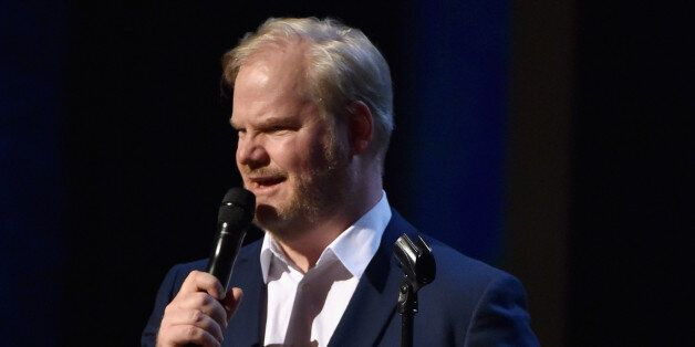 NEW YORK, NY - FEBRUARY 28:  Jim Gaffigan performs onstage at Comedy Central Night Of Too Many Stars at Beacon Theatre on Feb