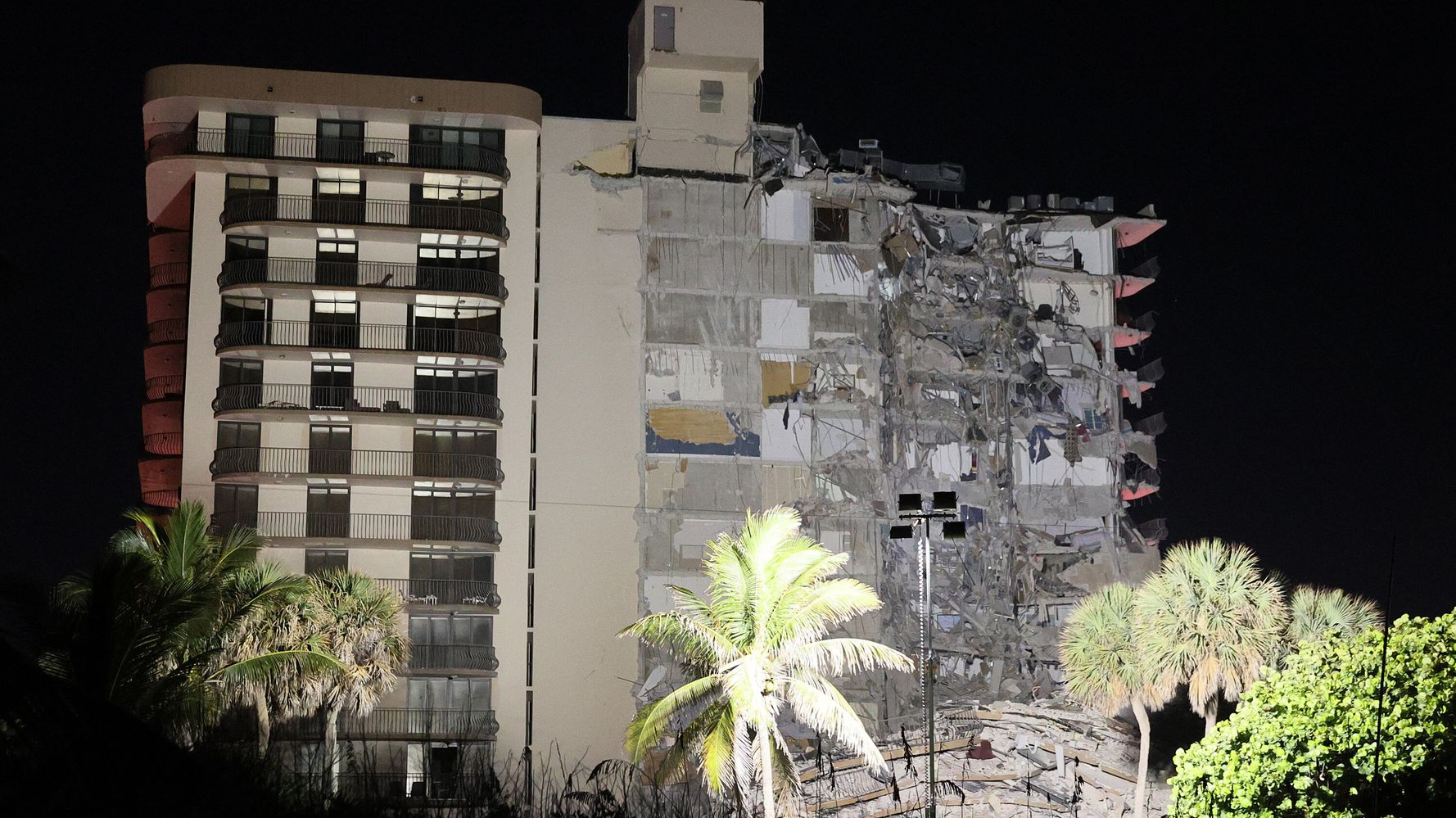 12-Story Apartment Building Partially Collapses Near Miami Beach
