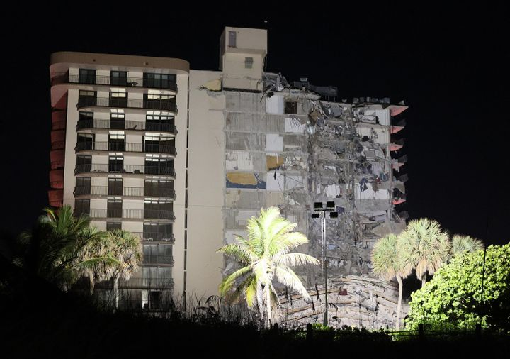 Approximately 55 units in the 136-unit structure collapsed at 1:30 a.m., authorities said.