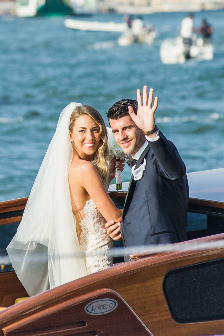 La pareja, el día de su boda