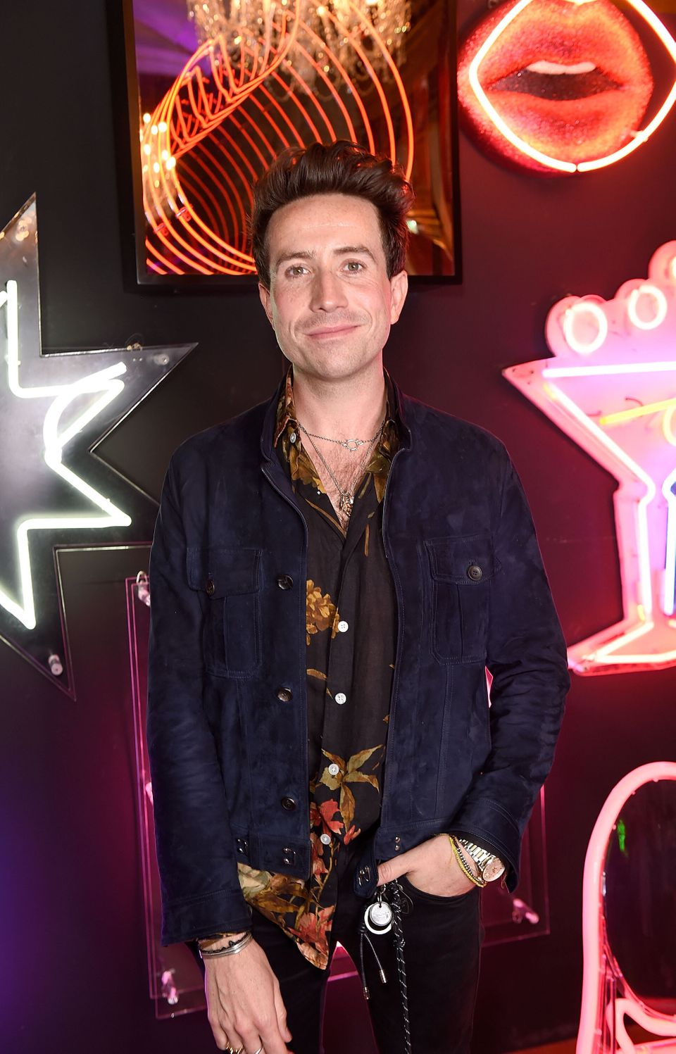 Nick Grimshaw at a Pride event in