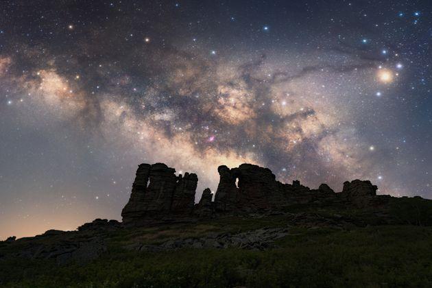 Le ciel chinois sous la Voie Lactée (photo