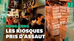 À Hong Kong, interminables files d'attente pour le dernier