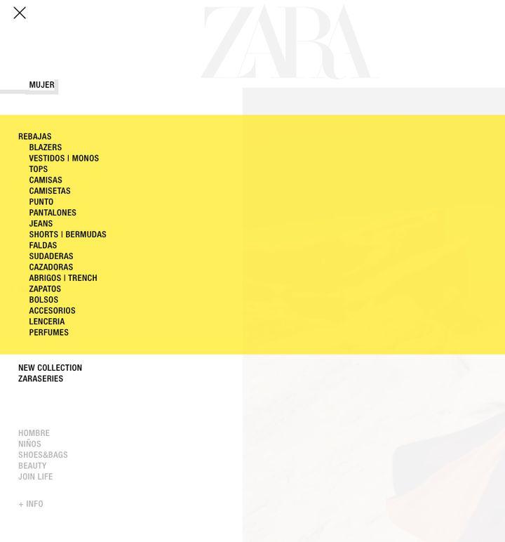 La web de Zara, preparada