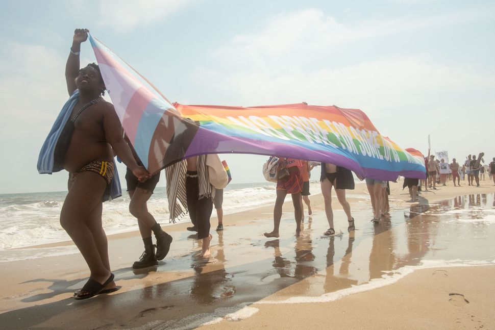 Beach Solidarity March on Juneteenth on Fire Island. Gays Against Guns, a direct action group of LGBTQ people, helped organize the march.