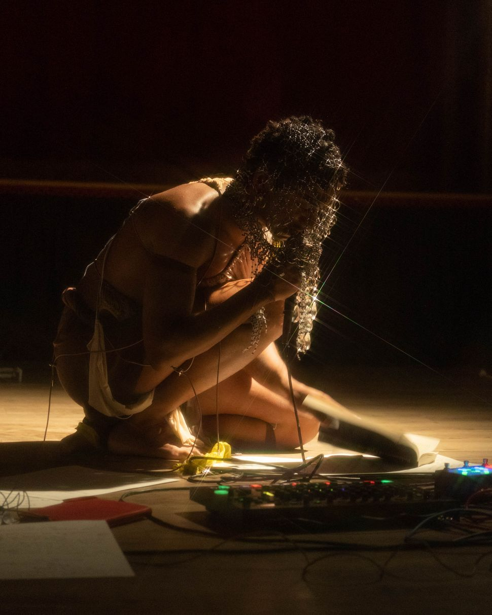 "Interdisciplinary artist Jesus Hilario-Reyes performs ""Destierro"" at Cherry Grove Community House and Theatre."
