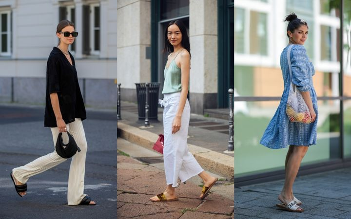 Style influencers and others take the easy shoe look to the streets.