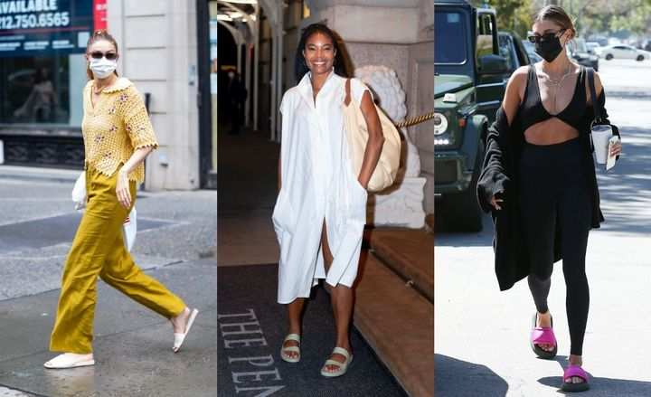 Gigi Hadid, Gabrielle Union, Hailey Bieber and other celebrities have sported slides in recent months.