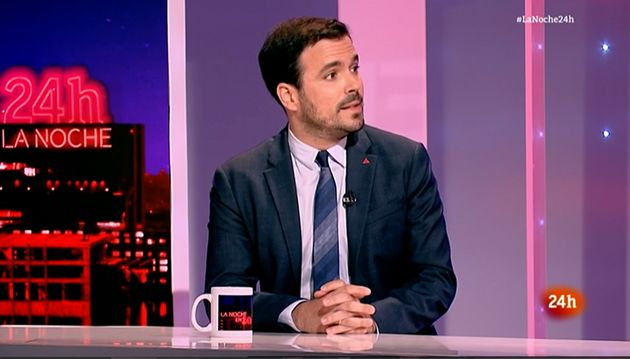 Alberto Garzón, en 'La noche en 24