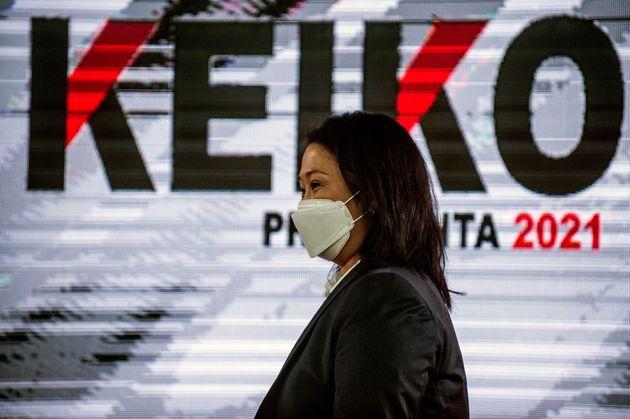 La candidata conservadora Keiko