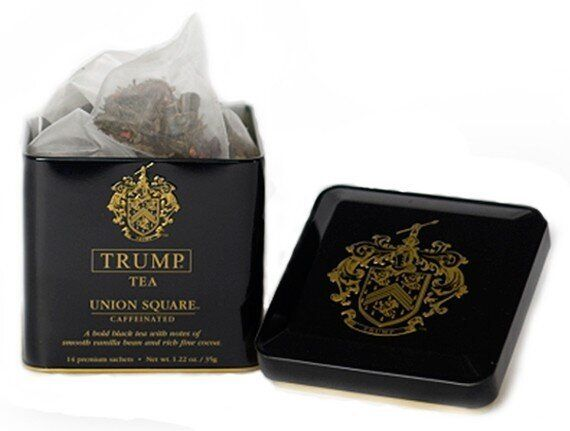 """Trump launched a line of premium teas priced at <a href=""""http://www.luxist.com/2010/08/18/trump-launches-trump-tea/""""> $12.95"""