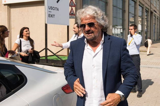 ITALY, TURIN, PIEDMONT - 2018/09/21: Beppe Grillo leaves after visiting the Terra Madre Salone del Gusto...