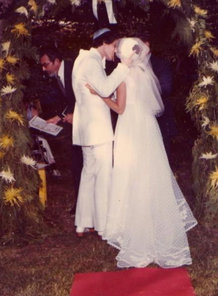 The author and Steve on their wedding day in West Nyack, New York, in 1976.