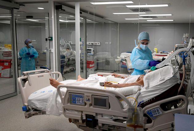 Pacientes de coronavirus en un