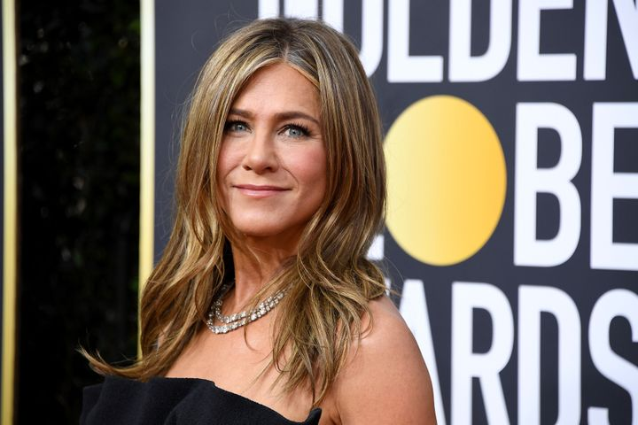Aniston attends the 77th Annual Golden Globe Awards on in January 2020.