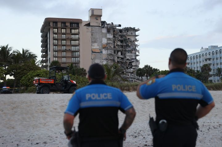 A portion of the 12-story condo tower crumbled early Thursday in Surfside, Florida. Dozens remain missing.