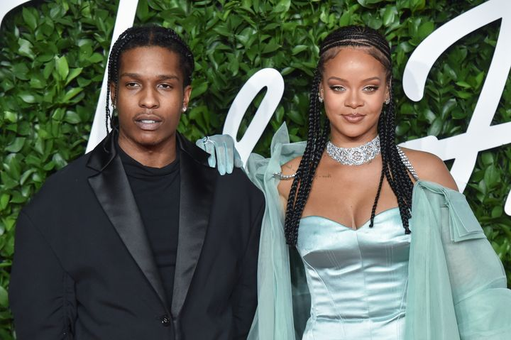A$AP Rocky and Rihanna at The Fashion Awards held on December 02, 2019 in London, England.