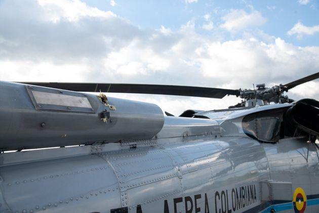 Disparos sobre el fuselaje del helicóptero de Iván Duque, presidente de