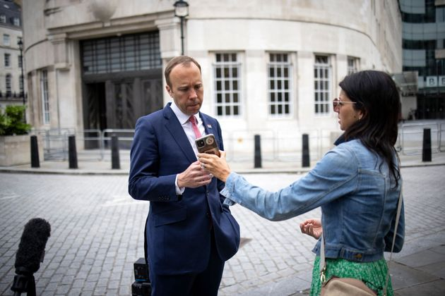Matt Hancock pictured with his aide Gina Coladangelo earlier this